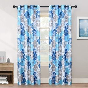 New melodieux curtain set of 2 panels 52x63